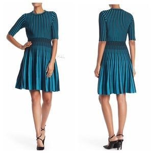 NWT Nanette Lepore Teal Cupcake Fit Flare Dress